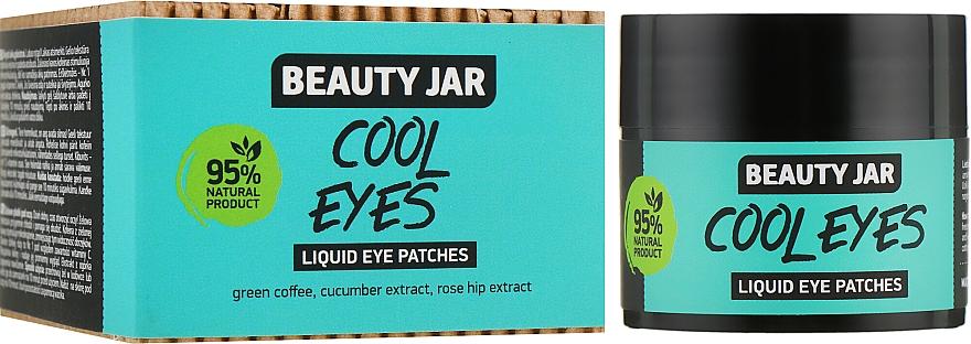 Augenpatches Cool Eyes mit grünem Kaffee, Gurken- und Hagebuttenextrakt - Beauty Jar Liquid Eye Patches