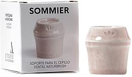 Düfte, Parfümerie und Kosmetik Zahnbürstenhalter aus Porzellan hellrosa - NaturBrush Sommier Toothbrush Holder