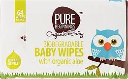 Düfte, Parfümerie und Kosmetik Baby-Feuchttücher mit Bio Aloe Vera 64 St. - Pure Beginnings Biodegradable Aloe Baby Wipes