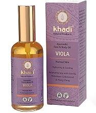 Düfte, Parfümerie und Kosmetik Ayurvedisches Gesichts- und Körperöl mit Veilchenextrakt - Khadi