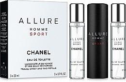 Düfte, Parfümerie und Kosmetik Chanel Allure Homme Sport Cologne - Duftset (Eau de Toilette 20ml + Eau de Toilette Refill 2x20ml)