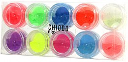 Düfte, Parfümerie und Kosmetik Nageldesignset mit fluoreszierenden Nagelpuder - Chiodo Pro Puder