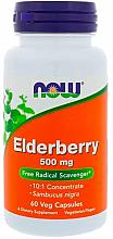 Düfte, Parfümerie und Kosmetik Nahrungsergänzungsmittel Holunder 500 mg - Now Foods Elderberry