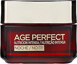 Intensiv nährende und regenerierende Nachtcreme mit Kalzium - L'Oreal Paris Age Perfect Intense Nutrition Rich Cream 60+ Night Cream — Bild N1
