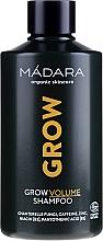Düfte, Parfümerie und Kosmetik Volumen-Shampoo zur Stimulierung des Haarwachstums mit Koffein, Zink und Pilzextrakt - Madara Cosmetics Grow Volume Shampoo
