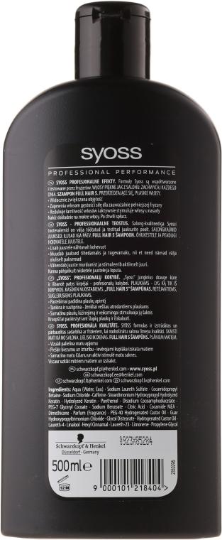 Shampoo für dünnes Haar - Syoss Full Hair 5 Shampoo — Bild N2