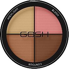 Düfte, Parfümerie und Kosmetik Highlighter Gesichtspalette - Gosh Contour Strobe Kit