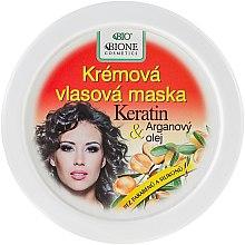 Düfte, Parfümerie und Kosmetik Cremige Haarmaske mit Keratin und Arganöl - Bione Cosmetics Keratin + Argan Oil Cream Hair Mask