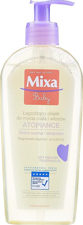Beruhigendes Duschöl für Körper und Haare - Mixa Baby Atopiance Soothing Cleansing Oil For Body & Hair