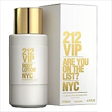 Düfte, Parfümerie und Kosmetik Carolina Herrera 212 VIP - Parfümierte Körperlotion
