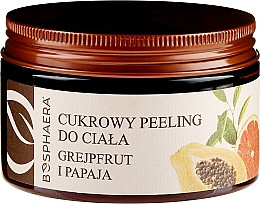 Düfte, Parfümerie und Kosmetik Zuckerpeeling für Körper mit Grapefruit und Papaya - Bosphaera