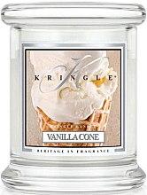 Düfte, Parfümerie und Kosmetik Duftkerze im Glas Vanilla Cone - Kringle Candle Vanilla Cone
