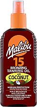 Düfte, Parfümerie und Kosmetik Bronzierendes Bräunungsöl-Spray mit Kokosnuss SPF 15 - Malibu Bronzing Tanning Oil With Coconut SPF 15