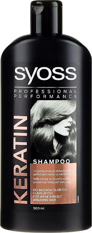 Keratin Shampoo für schwaches und brüchiges Haar - Syoss Keratin Hair Perfection — Bild N1
