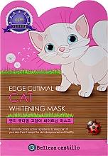 Düfte, Parfümerie und Kosmetik Anti-Falten Gesichtsmaske mit bleichender Wirkung Katze - Belleza Castillo Edge Cutimal Cat Anti-Wrinkle Mask
