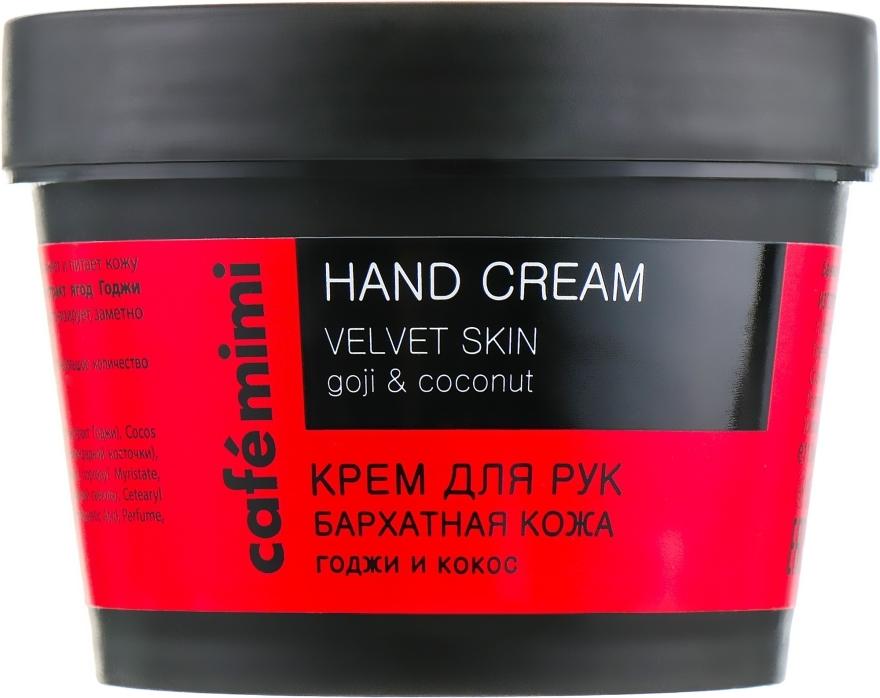 Handcreme mit Goji-Beere und Kokosnussöl - Cafe Mimi Hand Cream Velvet Skin
