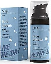 Düfte, Parfümerie und Kosmetik Gesichtscreme mit Hyaluronsäure und Avokadoöl - Kili·g Man Face Cream