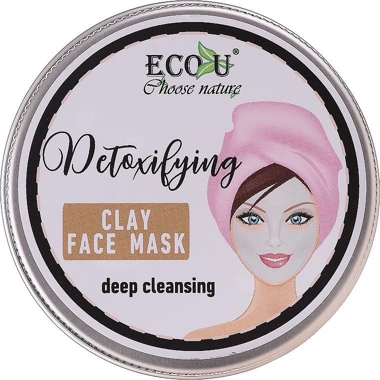 Reinigende Gesichtsmaske mit Tonerde - Eco U Detoxifying Deep Cleansing Clay Face Mask