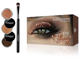 Düfte, Parfümerie und Kosmetik Augen Make-up Set (3x Lidschatten + Lidschattenpinsel) - Bellapierre Eye Slay Kit Copper Glam