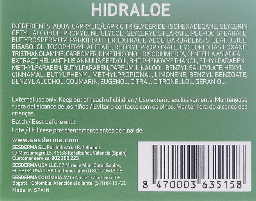 Feuchtigkeitsspendende Gesichtscreme - SesDerma Laboratories Hidraloe Moisturizing Face Cream — Bild N3