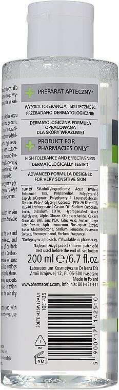 Antibakterielles Mizellen-Reinigungswasser zum Abschminken für fettige und zu Akne neigende Haut - Pharmaceris T Sebo-Micellar Solution Cleansing Make-Up Removal — Bild N2