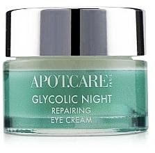 Düfte, Parfümerie und Kosmetik Reparierende Anti-Aging Nachtcreme für die Augen mit Glykolsäure, Kornblume, Kamille und Sheabutter - APOT.CARE Glycolic Night Eye Cream