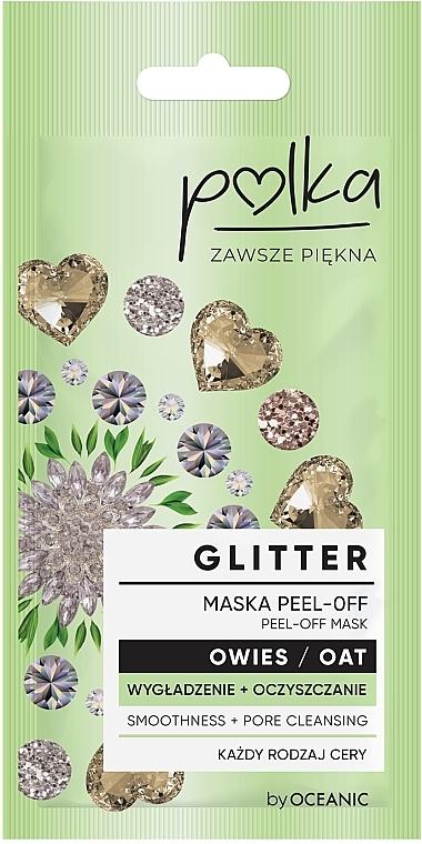Glättende und reinigende Peel-Off Gesichtsmaske mit Hafer - Polka Glitter Peel Off Mask Oat