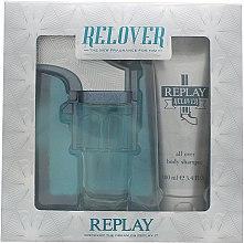 Düfte, Parfümerie und Kosmetik Replay Relover - Duftset (Eau de Toilette 50ml + Körpershampoo 100ml)