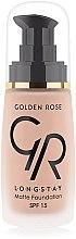 Düfte, Parfümerie und Kosmetik Langanhaltende mattierende Foundation - Golden Rose Longstay Matte Foundation SPF 15
