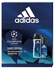 Düfte, Parfümerie und Kosmetik Adidas UEFA Dare Edition - Körperpflegeset (2in1 Shampoo und Duschgel 250ml + Deospray 150ml)
