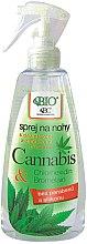 Düfte, Parfümerie und Kosmetik Fußspray mit Cannabis-Extrakt - Bione Cosmetics Cannabis Foot Spray With Triethyl Citrate And Bromelain