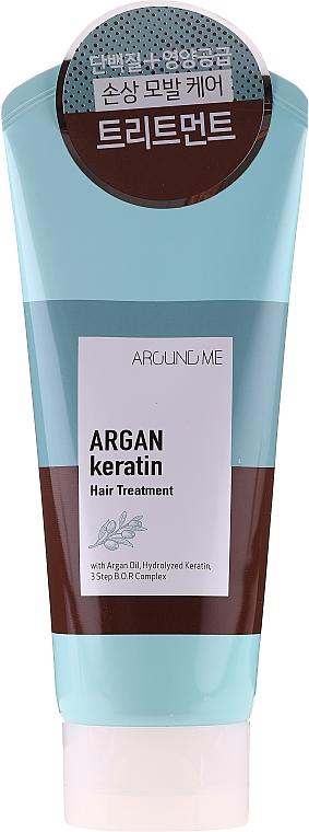 Haarmaske mit Traubenkernöl, Traubenextrakt und Lavendelöl - Welcos Around Me Argan Keratin Hair Treatment