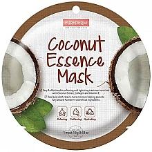 Düfte, Parfümerie und Kosmetik Feuchtigkeitsspendende Gesichtsmaske mit Kokosnussextrakt, Kollagen und Vitamin E - Purederm Coconut Essence Mask