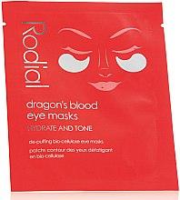 Düfte, Parfümerie und Kosmetik Feuchtigkeitsspendende Augenmaske mit Bio-Cellulose - Rodial Dragon's Blood Eye Masks