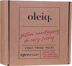 Düfte, Parfümerie und Kosmetik Gesichts-, Körper- und Haarpflegeset - Oleiq (Hydrolat für Gesicht, Körper und Haare 100ml + Öl für Körper und Haare 100ml + Pflaumenöl 30ml)