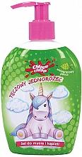 Düfte, Parfümerie und Kosmetik Bade- und Duschgel für Kinder Regenbogen-Einhorn Traubenpunsch - Chlapu Chlap Bath & Shower Gel