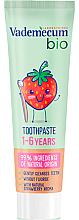 Düfte, Parfümerie und Kosmetik Bio-Kinderzahncreme 1-6 Jahre mit Erdbeergeschmack - Vademecum Bio Toothpaste