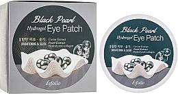 Düfte, Parfümerie und Kosmetik Hydrogel Augenpatches mit Kaviarextrakt und schwarzen Perlen - Esfolio Black Pearl Hydrogel Eye Patch