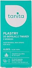 Düfte, Parfümerie und Kosmetik Enthaarungswachsstreifen für das Gesicht mit Aloe Vera - Tanita