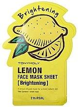 Düfte, Parfümerie und Kosmetik Aufhellende Tuchmaske mit Zitronenextrakt - Tony Moly I'm Real Lemon Mask Sheet