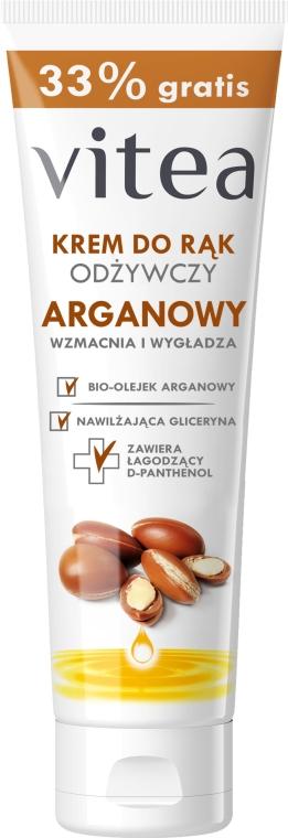 Handcreme mit Bio Arganöl und Glycerin - Vitea Moisturizing Hand Cream Argan Oil