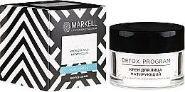Düfte, Parfümerie und Kosmetik Mattierende Gesichtscreme für fettige und Mischhaut - Markell Cosmetics Detox Program Face Cream
