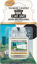Düfte, Parfümerie und Kosmetik Auto-Lufterfrischer Clean Cotton - Yankee Candle Car Jar Ultimate Clean Cotton