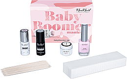 Düfte, Parfümerie und Kosmetik Nagelpflegeset - NeoNail Professional Baby Boomer Set (Nagelüberlack 7,2ml + Nagelunterlack 7,2ml + Nagelgel 5ml + Peel-Off-Gummi 12ml + Maniküreschwämmchen 25 St. + Nagelhautstäbchen 10 St.)