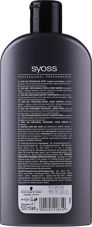 Shampoo für Männer, Tiefenreinigung und Erfrischung - Syoss Men Power  — Bild N2