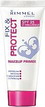 Düfte, Parfümerie und Kosmetik Gesichts-Concealer - Rimmel Fix & Protect Makeup Primer SPF25