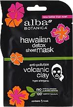 Düfte, Parfümerie und Kosmetik Gesichtsmaske zur Entgiftung mit vulkanischem Ton - Alba Botanica Hawaiian Detox Sheet Mask Anti-pollution Volcanic Clay