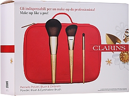 Düfte, Parfümerie und Kosmetik Make-up Set - Clarins (Make-up Pinsel 3 St. + Kosmetiktasche)