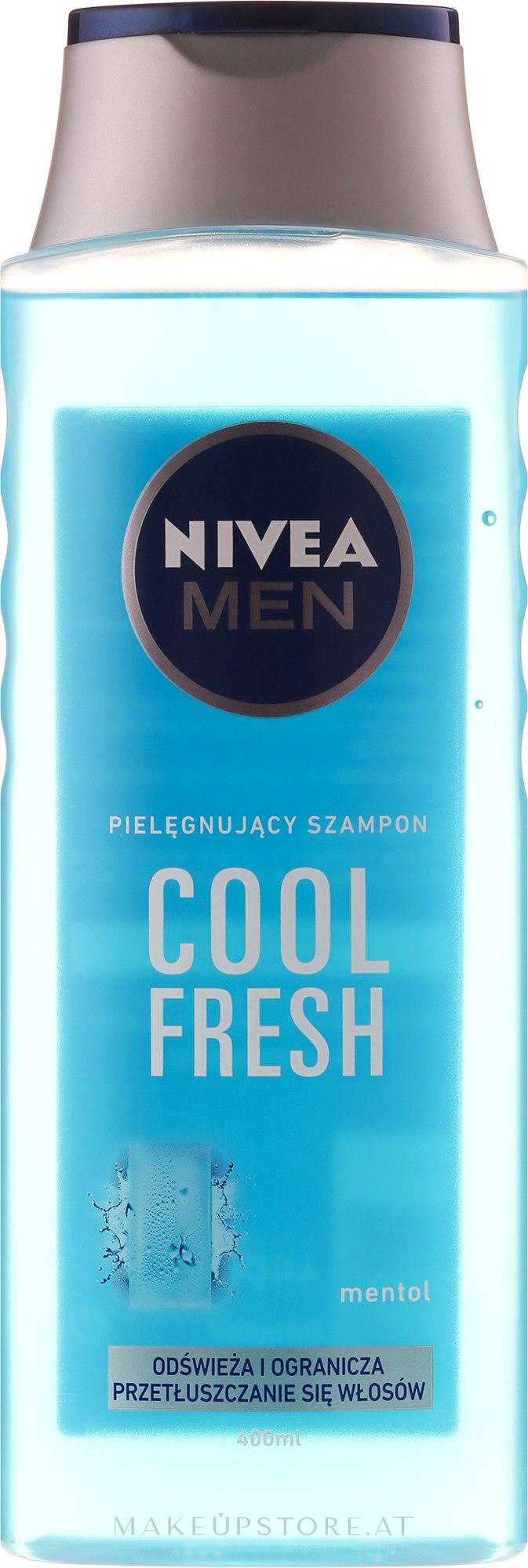 Shampoo für Männer, Tiefenreinigung und Erfrischung - Nivea For Men Cool Fresh Mentol Shampoo — Bild 400 ml