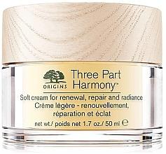Düfte, Parfümerie und Kosmetik Leichte verjüngende und reparierende Gesichtscreme für mehr Strahlkraft mit Sheabutter und Vitamin E - Origins Three Part Harmony Soft Cream